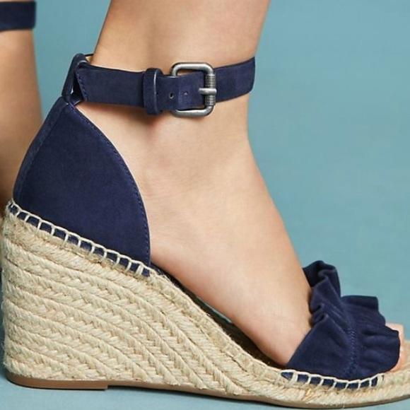 0ac5d181a8a Splendid Bedford Ruffled Wedge Sandal NWT